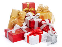 Lots of gifts Royalty Free Stock Photography