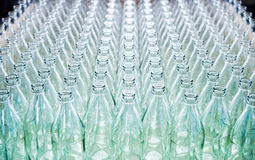 Lots of glass bottles Stock Photo