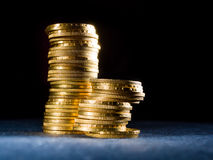 Lots of gold coins Royalty Free Stock Photos