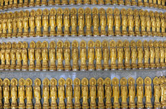 Lots Golden Statue of Guan Yin Royalty Free Stock Photo