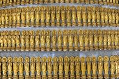 Lots Golden Statue of Guan Yin Royalty Free Stock Photo
