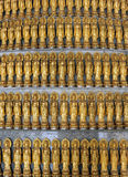 Lots Golden Statue of Guan Yin Royalty Free Stock Photography