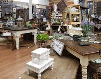 Interior of a nice antique store TX USA royalty free stock images