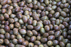 Lots of green olives Stock Image