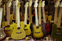 Lots of guitars Stock Image