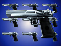 Lots Of Guns. An image of lots of guns, a good concept for criminal concepts Royalty Free Stock Images