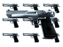 Lots Of Guns. An image of lots of guns, a good concept for criminal concepts Royalty Free Stock Photo