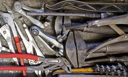 Lots of hand tools Stock Photo