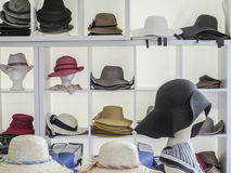 Lots of hats. Lots of various hats picture Royalty Free Stock Photo