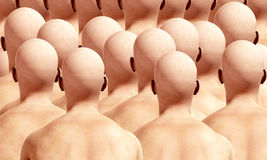Lots Of Head Backs. A lot of duplicated male backs, suitable for conformity concepts Royalty Free Stock Photo