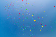 Lots of helium baloons Royalty Free Stock Photography