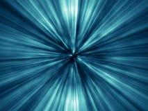 Lots helle blaue Strahlen Lizenzfreie Stockbilder