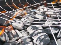 Lots Holzkohle für BBQ Lizenzfreie Stockbilder