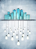 Lots of ideas in big city, idea concept Stock Photography