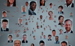 Isolated portraits of business people Royalty Free Stock Photography