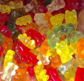 Lots of jelly bears sweets Royalty Free Stock Images