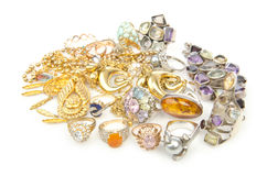 Lots of jewellery Royalty Free Stock Images