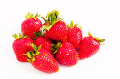 Lots of juicy red strawberries Stock Photos