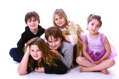 Lots of kids. Large group of kids in a cute portrait Stock Photos