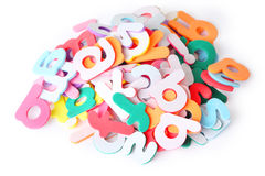 Lots of letters for child, alphabet, heap isolated Stock Images