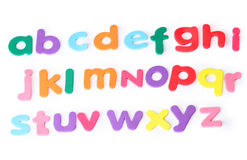Lots of letters for child, english alphabet Stock Photos