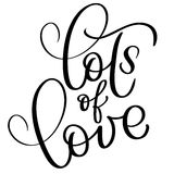 Lots of love vector vintage text. Calligraphy lettering illustration EPS10 on white background Royalty Free Stock Photos
