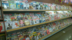 Lots of magazines  selling at  supermarket Stock Photography