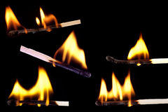 Lots of matches stock images