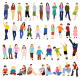 Lots of Men Women and Children Stock Images