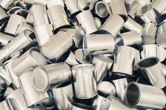 Lots of metal tin cans Stock Photo