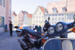 Lots Of Motorbikes in a Raw Stock Image