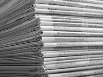 Lots of newspapers Stock Photos