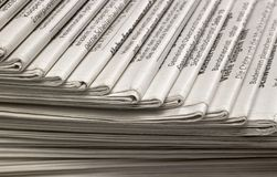 Lots of newspapers Royalty Free Stock Photography