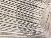 Lots of newspapers Stock Photography