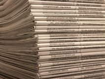 Lots of newspapers Royalty Free Stock Images
