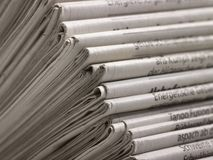 Lots of newspapers Stock Photo