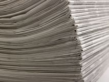 Lots of newspapers Royalty Free Stock Photos