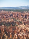 Lots o' Hoodoos. A whole field of hoodoos showing eons of erosion in Bryce Canyon, Utah royalty free stock photos