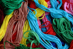 colourful threads. Coloured threads mixed together Royalty Free Stock Image