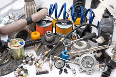 Free Lots Of Auto Parts Royalty Free Stock Photography - 15210467