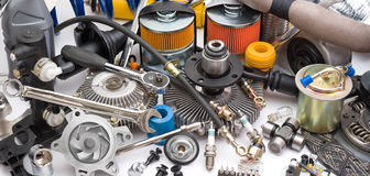 Lots Of Auto Parts Stock Image