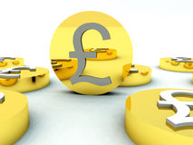 Free Lots Of British Pound Coins 4 Stock Image - 5607171