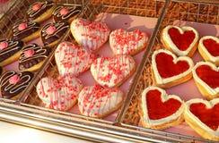 Lots Of Heart Donuts Stock Photos