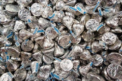 Free Lots Of Hershey Chocolate Kisses Royalty Free Stock Photo - 46151755