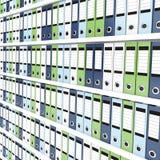 Lots of office folders Stock Photo