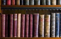 Lots of old books in a library Royalty Free Stock Image