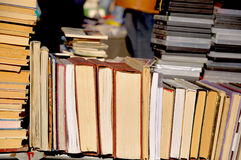Lots of old books Stock Photo