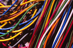 Lots of Old Wires Royalty Free Stock Image