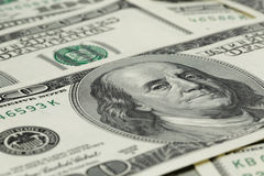 Lots of one hundred dollar banknotes, background Stock Photography