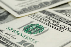 Lots of one hundred dollar banknotes, background Royalty Free Stock Photography